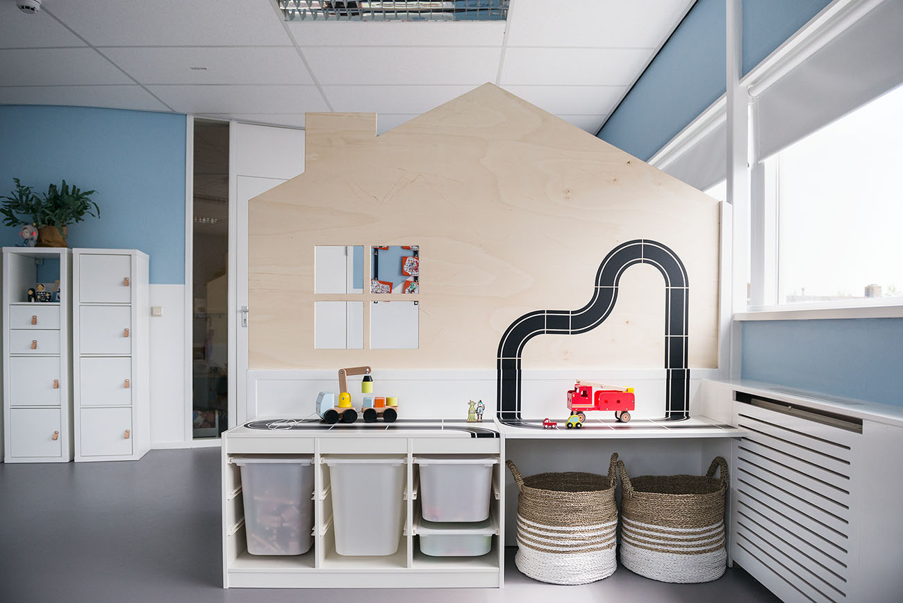 minimam ontwerp interieur kinderopvang de Boomgaard